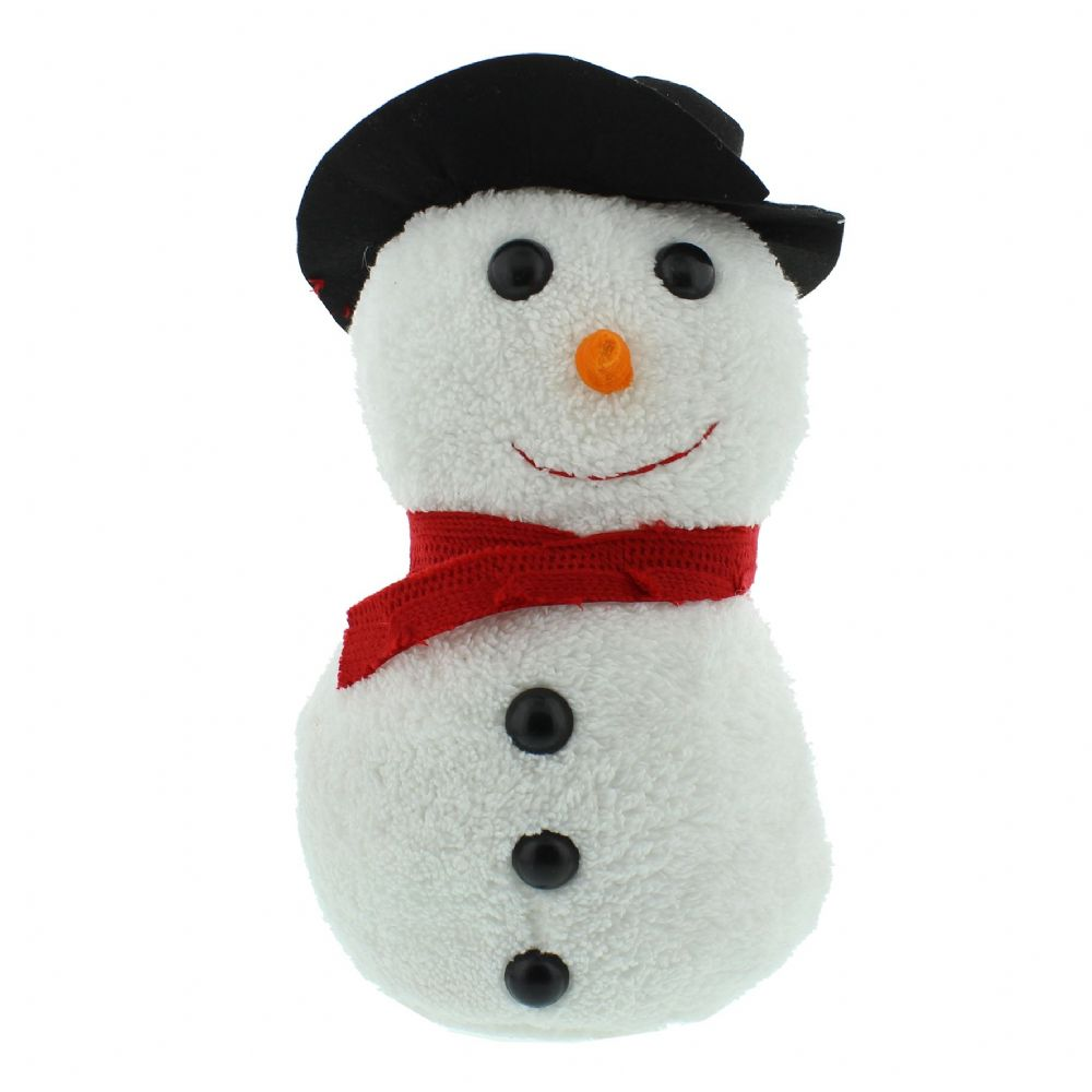 Snowman Doorstop with Hat & Scarf